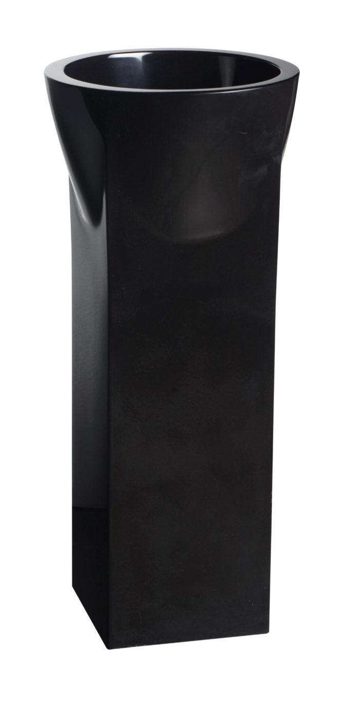 AV.HIB.300.02.NM.NM Vasque Hibath Noir sur colonne (Custom)