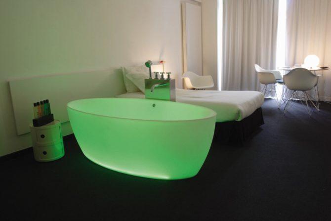 Chambre chromo verte 1 White Hotel (Custom)