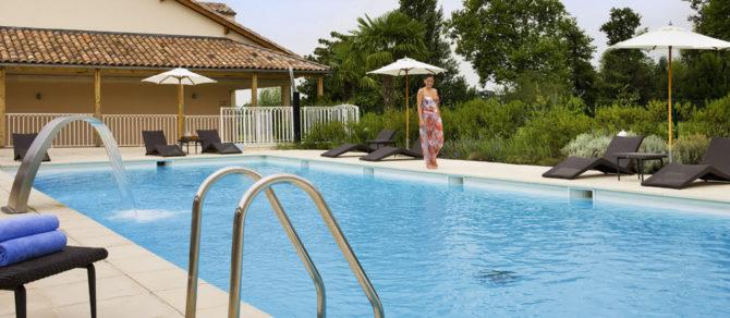 SPA St Emilion - Piscine - Hotel Grand Barrail