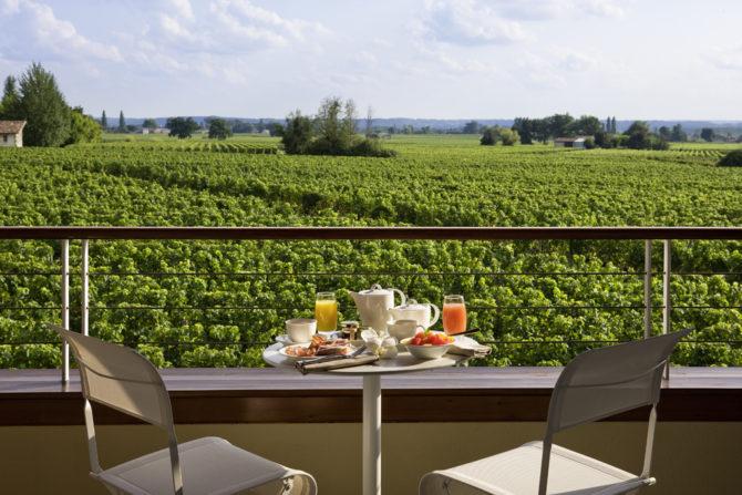 Vue Vignoble de la chambre - Hotel Grand Barrail